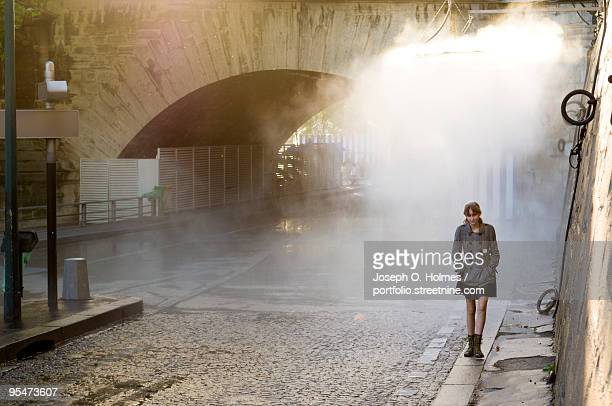 a girl by the seine - joseph o. holmes stock pictures, royalty-free photos & images