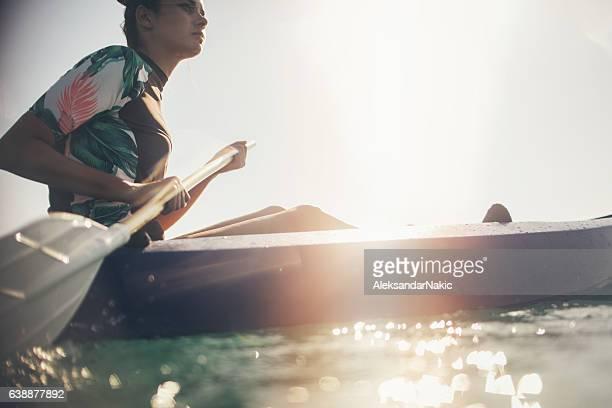 Girl canoeist