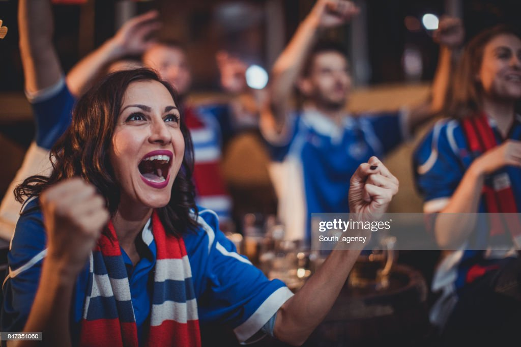 Girl celebrating with friends : Stock Photo