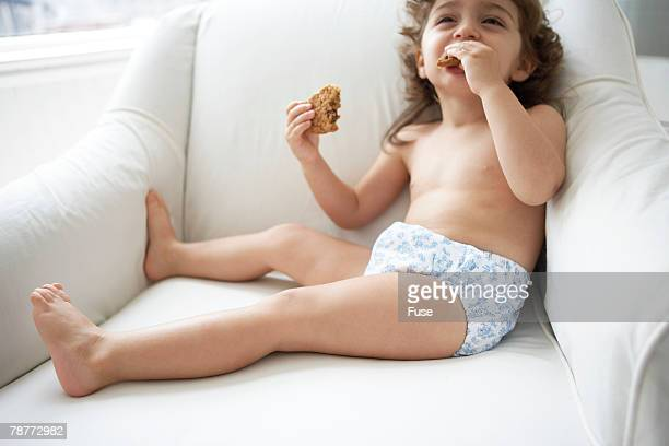 Girl Chomping Down Cookie