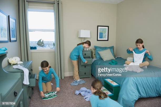 Girl Cleaning Bedroom