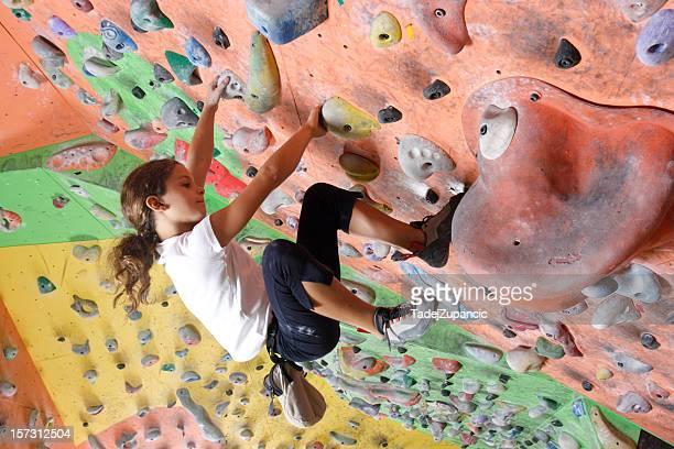 Mädchen Klettern