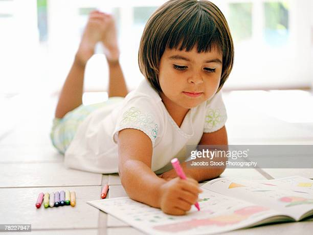 Girl coloring
