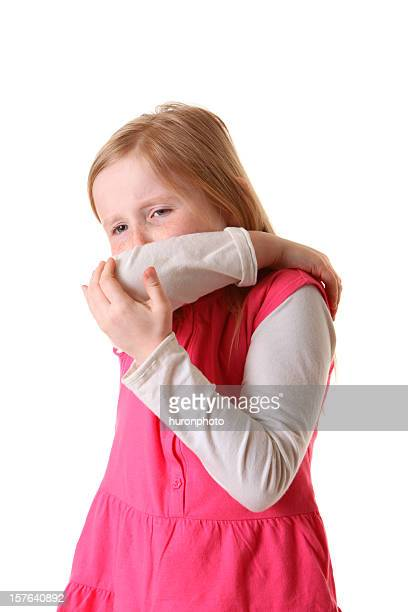girl 咳をアーム