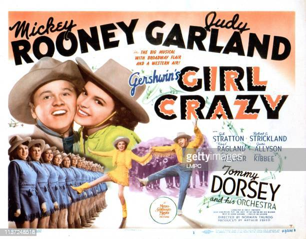 Girl Crazy poster US poster Mickey Rooney Judy Garland 1943