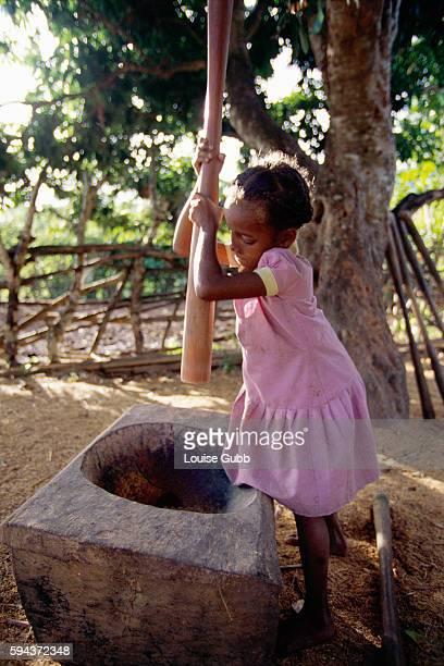 Girl Crushing Rice