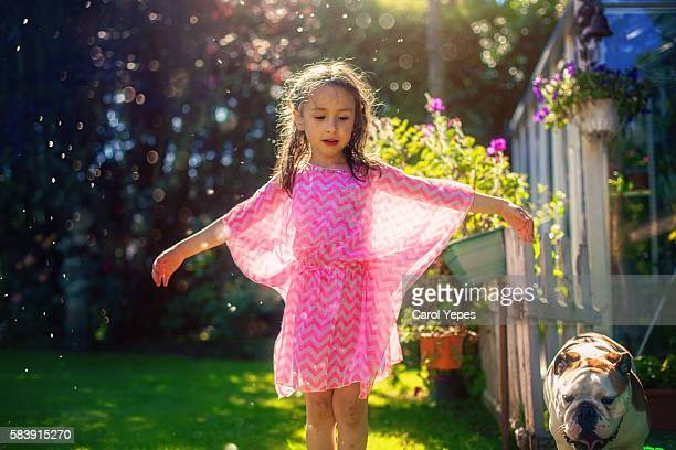 girl dancing outdoors - innocence stock pictures, royalty-free photos & images