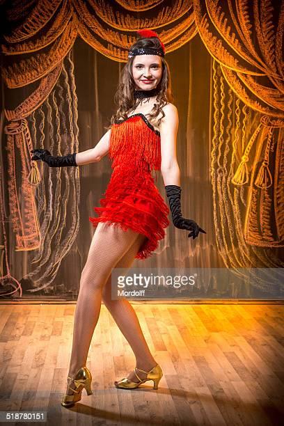 Girl dancing retro dance