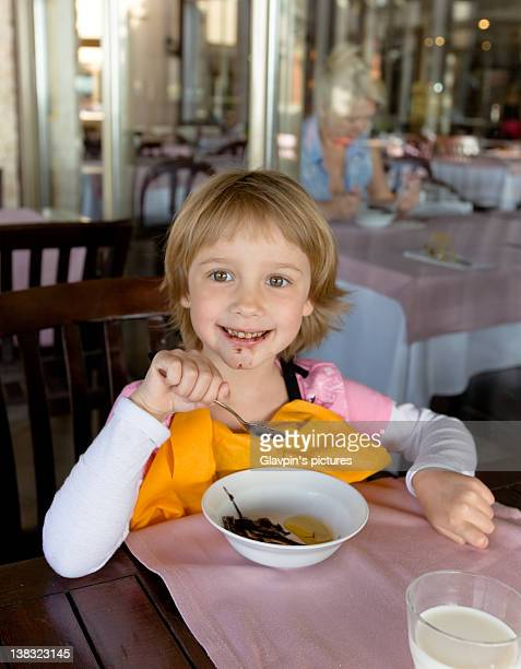 Girl doing breakfast