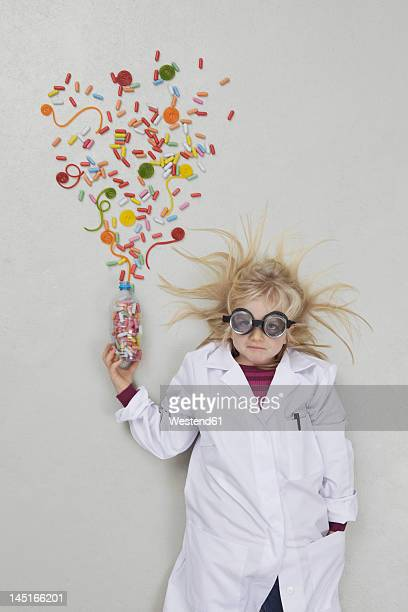 Girl doing experiment