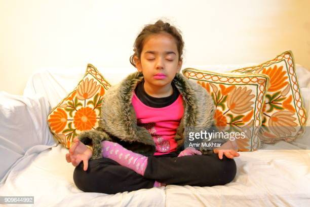 Girl Doing Yoga (Meditation)