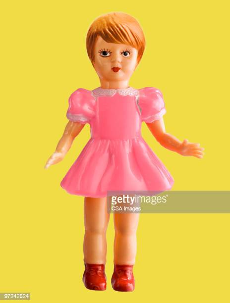 Girl Doll in Pink Dress