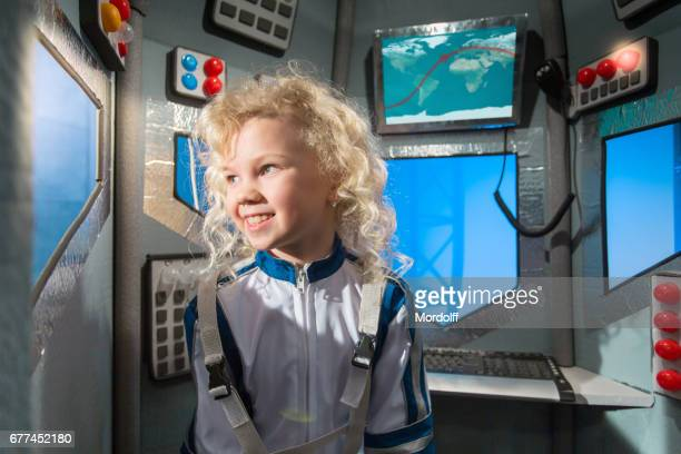 Girl Dream To Be Astronaut