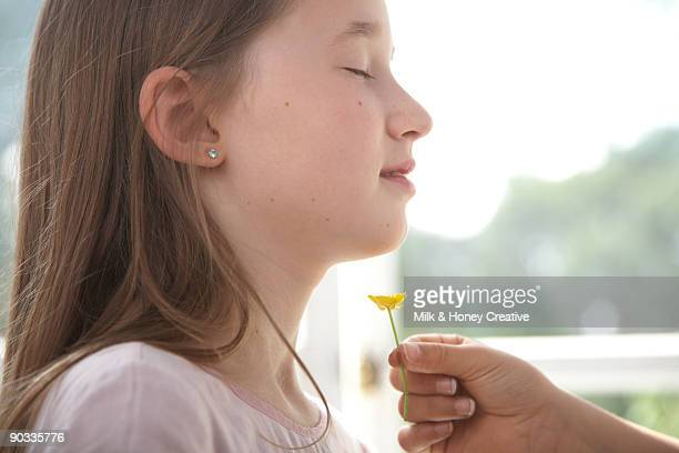 girl dream with buttercup flower - buttercup stock pictures, royalty-free photos & images