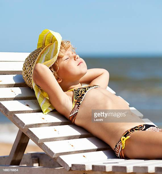 Girl dreaming at the beach