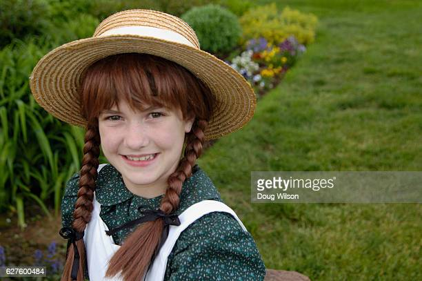 Girl Dressed as Anne of Green Gables