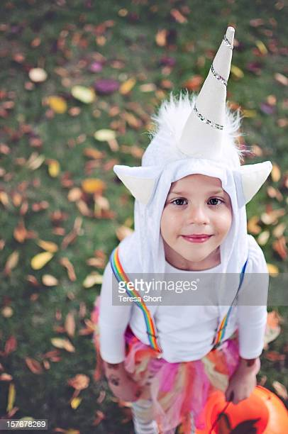 Girl Dressed in Unicorn Costume
