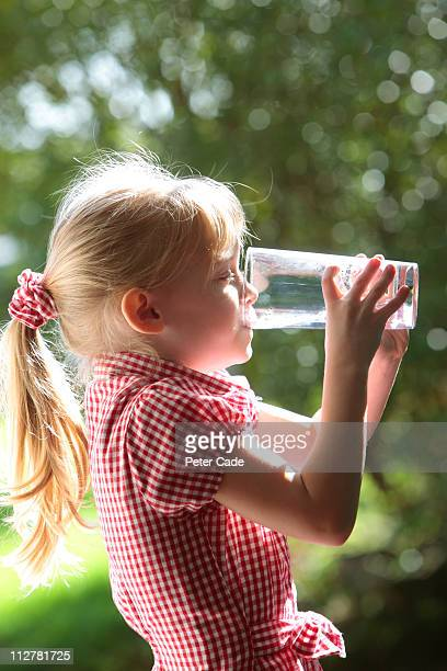 Girl drinking glass of water