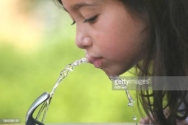 girl drinking