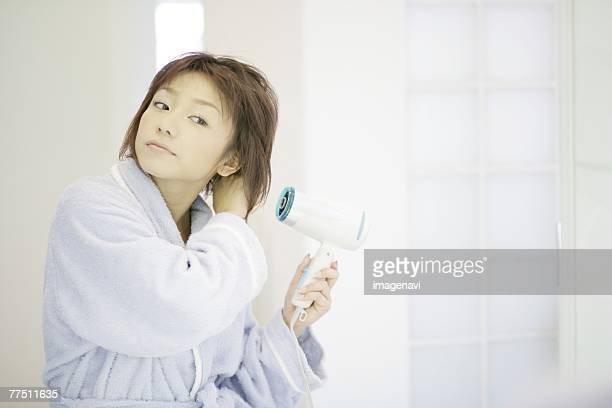 Girl Drying Hair