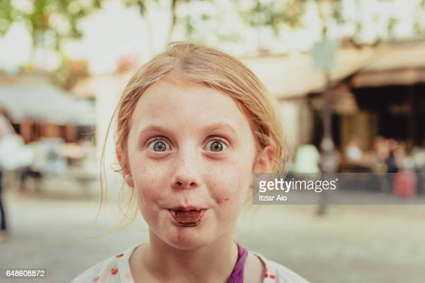 Girl eating candy
