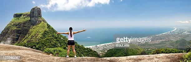 Girl embracing the city - Rio de Janeiro
