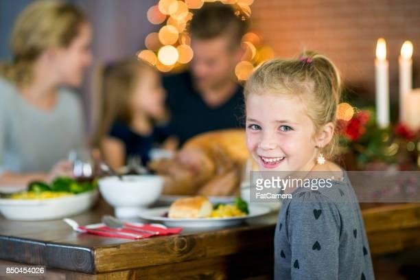 Meisje genieten van Kerstmis