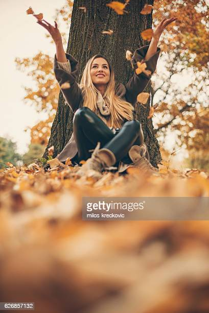 Girl enjoying day in park