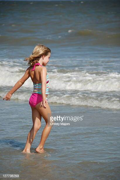 Girl enjoying ocean