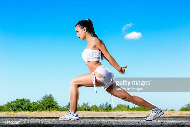 Girl exercising outdoor