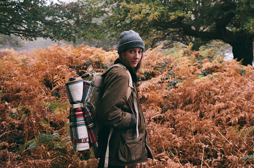 Girl explorer with Backpack - gettyimageskorea