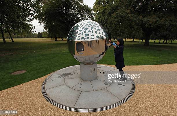 A girl from St Vincent RC primary School uses a new public drinking fountain in Hyde Park on September 23 2009 in London England It is hoped that the...