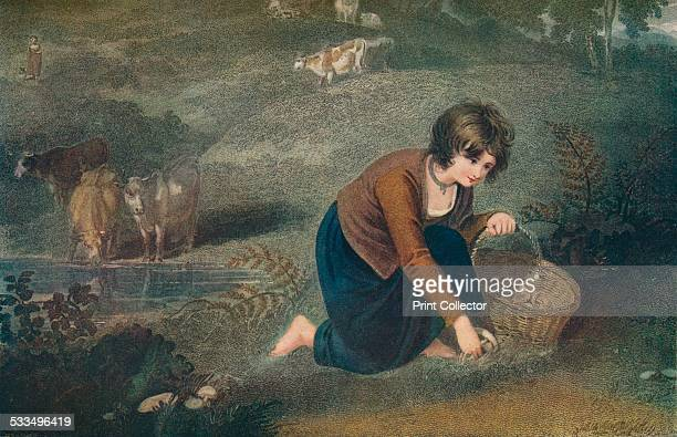 A Girl Gathering Mushrooms 1800 After Richard Westall From The Connoisseur Vol XLVIII [Otto Limited London 1917]