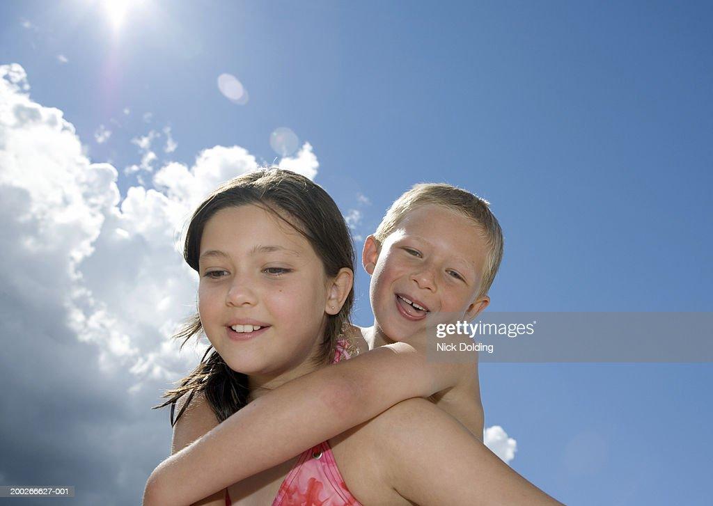 Girls giving a piggyback in bikini jong nude boys