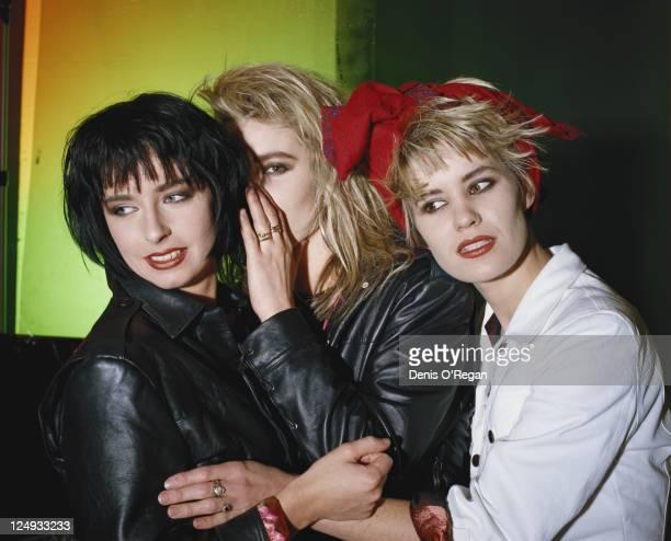 Girl group Bananarama circa 1988 Left to right Keren Woodward Sara Dallin and Siobhan Fahey