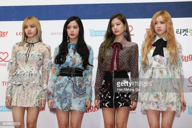 Girl group BLACKPINK attend the 6th Gaon Chart KPop Awards on February 22 2017 in Seoul South Korea