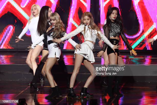 Girl group BlackPink performs on stage during the 8th Gaon Chart KPop Awards on January 23 2019 in Seoul South Korea