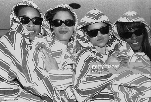 Girl group ExGirlfriend pose for a portrait in June 1991 in New York City New York