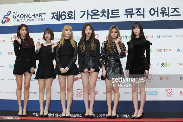 Girl group GFRIEND attend the 6th Gaon Chart KPop Awards on February 22 2017 in Seoul South Korea