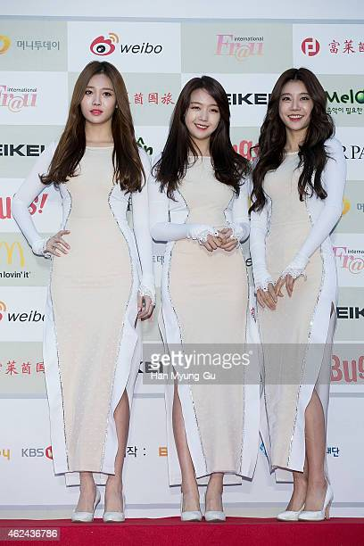 Girl group Girl's Day attends the 4th Gaon Chart KPop Awards on January 28 2015 in Seoul South Korea