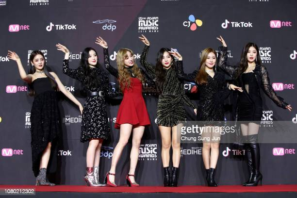 Girl group IDLE attends the 2018 Mnet Music Awards PREMIERE in KOREA at Dongdaemun Design Plaza on December 10 2018 in Seoul South Korea