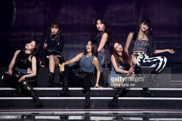 Girl group I-DLE perform on stage during the 9th Gaon Chart K-Pop Awards on January 08, 2020 in Seoul, South Korea.