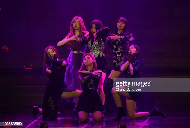 Girl group I-DLE performs on stage during the 8th Gaon Chart K-Pop Awards on January 23, 2019 in Seoul, South Korea.