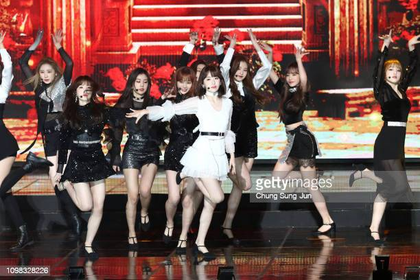 Girl group IZ*ONE performs on stage during the 8th Gaon Chart KPop Awards on January 23 2019 in Seoul South Korea
