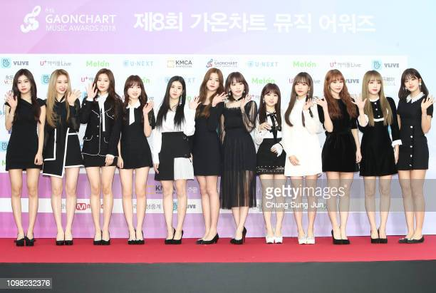 Girl group MOMOLAND attend the 8th Gaon Chart KPop Awards on January 23 2019 in Seoul South Korea