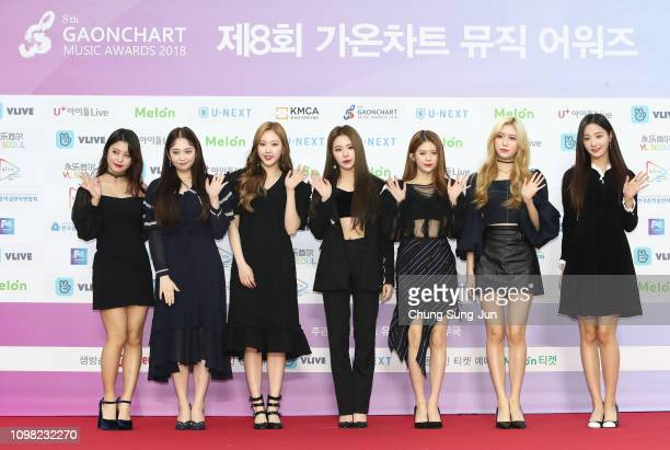 Girl group MOMOLAND attends the 8th Gaon Chart KPop Awards on January 23 2019 in Seoul South Korea