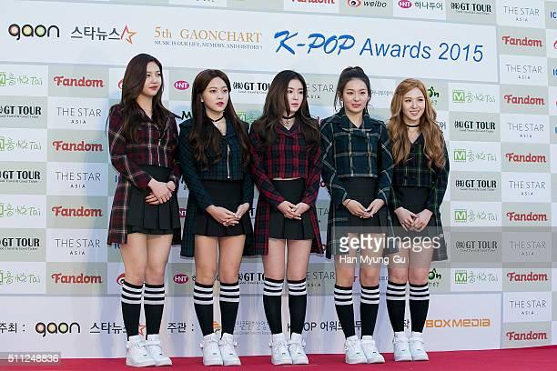 Girl group Red Velvet attends the 5th Gaon Chart KPop Awards on February 17 2016 in Seoul South Korea