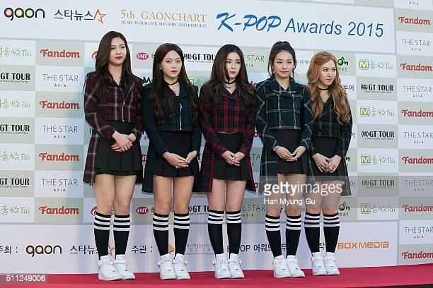 Girl group Red Velvet attends the 5th Gaon Chart K-Pop Awards on February 17, 2016 in Seoul, South Korea.