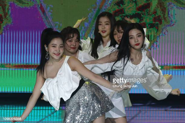 Girl group Red Velvet performs on stage during the 8th Gaon Chart K-Pop Awards on January 23, 2019 in Seoul, South Korea.