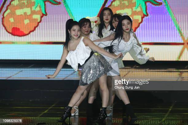 Girl group Red Velvet performs on stage during the 8th Gaon Chart KPop Awards on January 23 2019 in Seoul South Korea